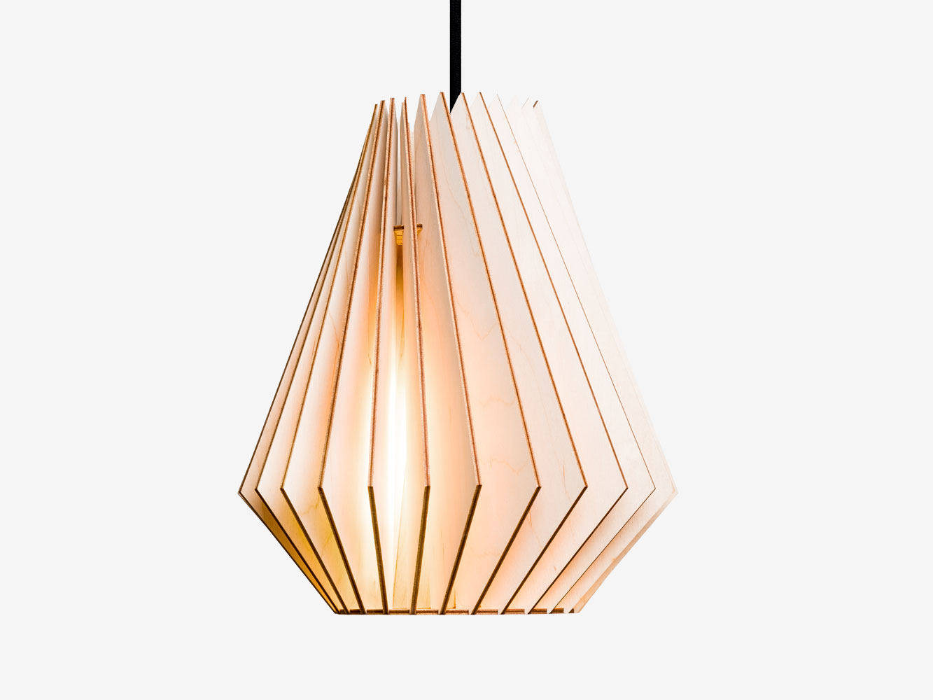 wood lampshade