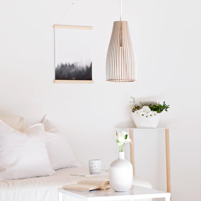 Holzlampe ENA Sofatisch Beleuchtung