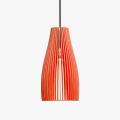 Holz Lampe ENA, rot Textilkabel schwarz