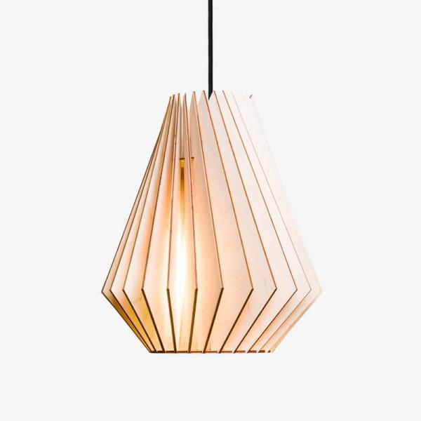 Holzlampe HEKTOR, Pendelleuchte Holz