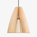 Holz Lampe TEIA natur Textilkabel schwarz