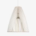 Holz Lampe TEIA weiss Textilkabel weiss