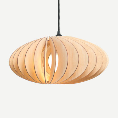Wood pendant light or ceiling lamp