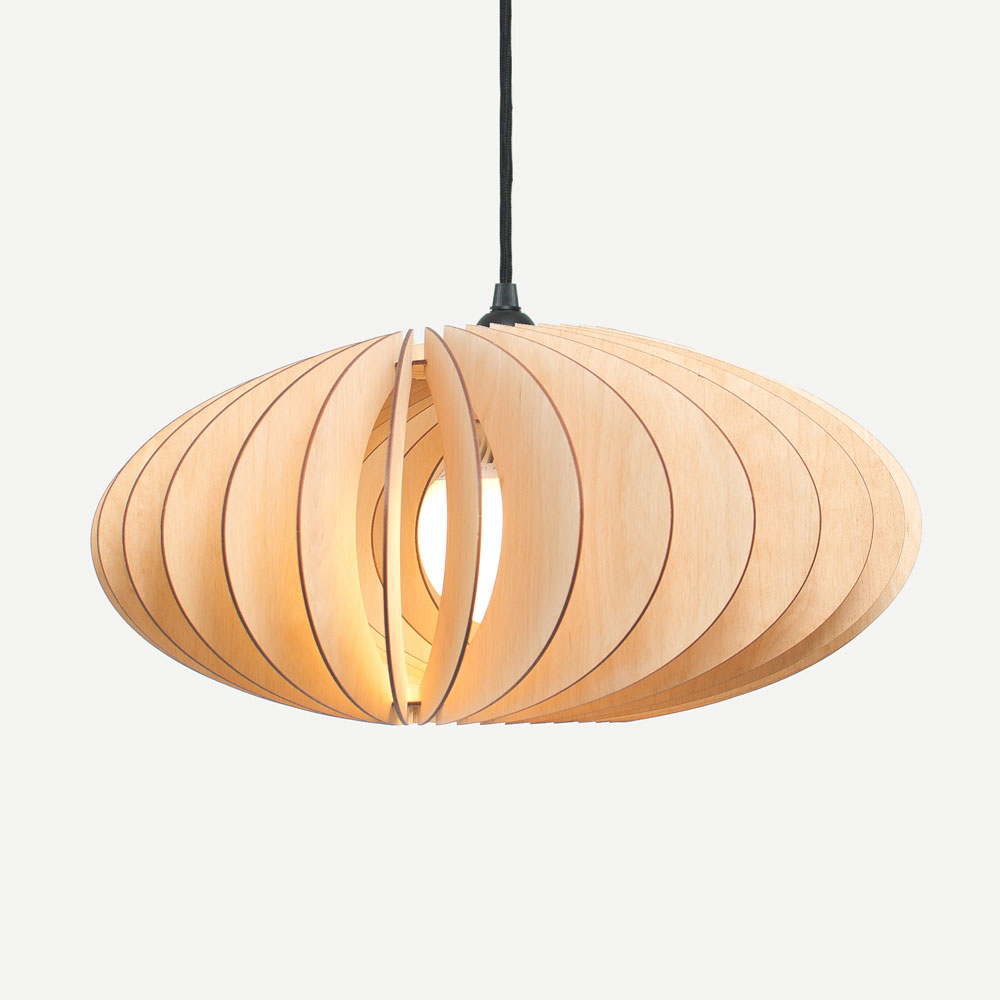 wooden pendant light NEFI by IUMI DESIGN