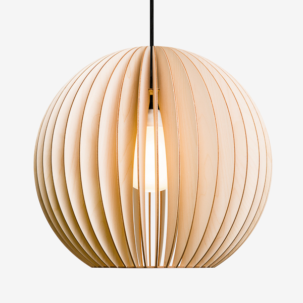 Wooden pendant light i aion l birchwood lamp for Lampen 4 you