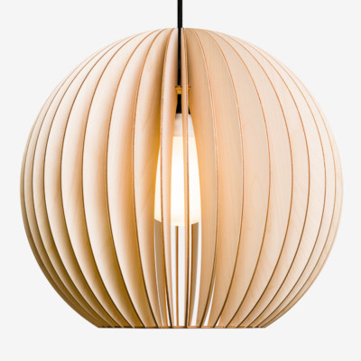 wood lamp, birch, extra Large