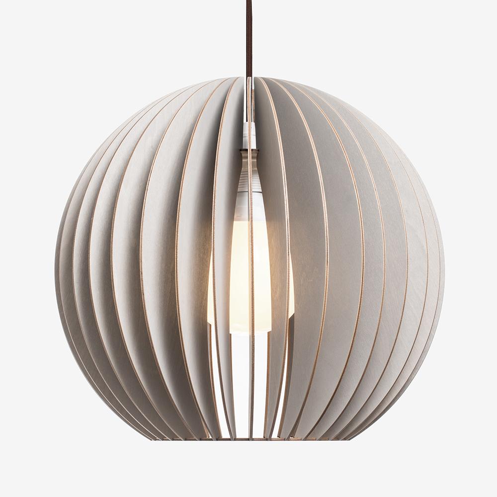 Wooden Pendant Light I Aion L Birchwood Lamp