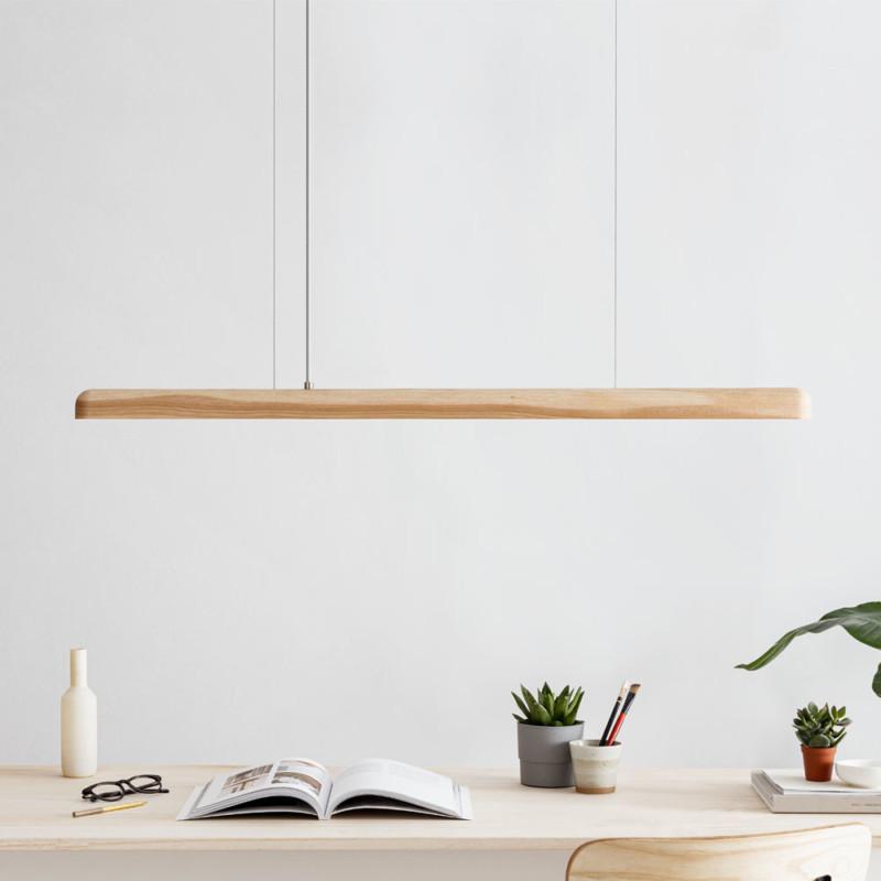 Pendellleuchte LED Eschenholz