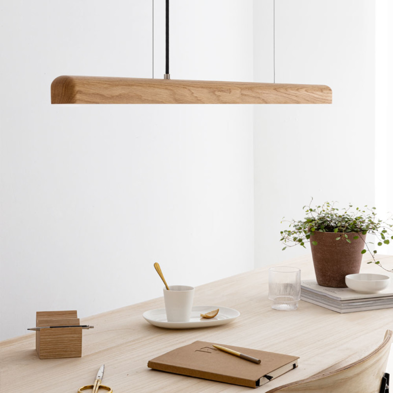 NYX-LED-Pendelleuchte-aus-Holz-Esstischlampe-leds made in Germany-IUMI DESIGN