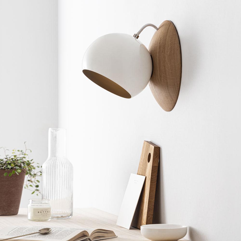 Wandlampe aus Holz - ORBIT, magnetisch verstellbar Eiche