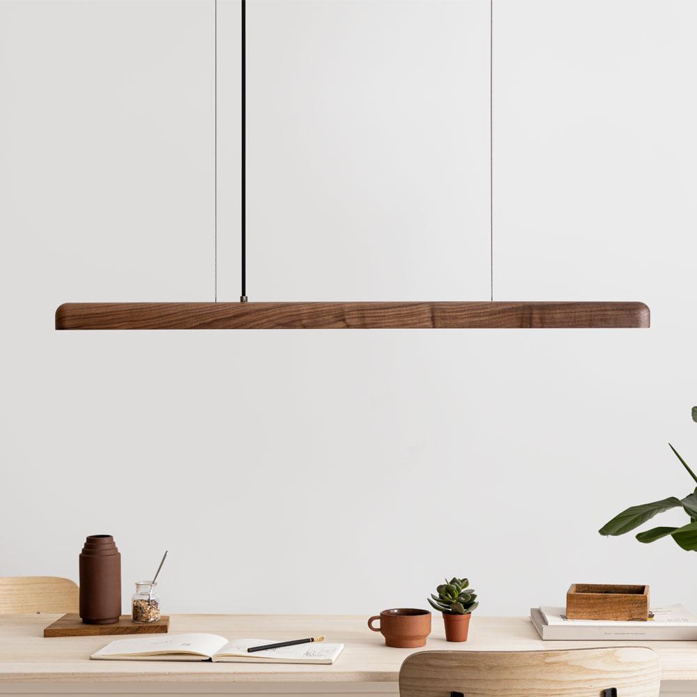 Pendellleuchte LED Nussbaum Holz