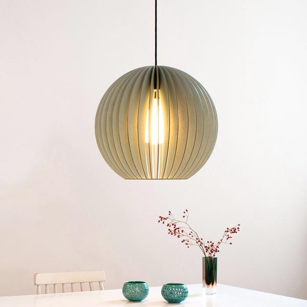 Lampe aus Holz AION L blau