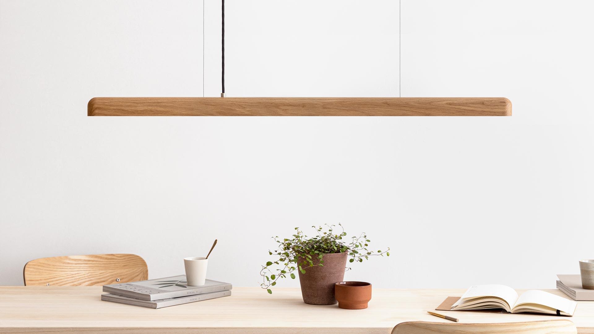 LED Pendelleuchte Holz dimmbar