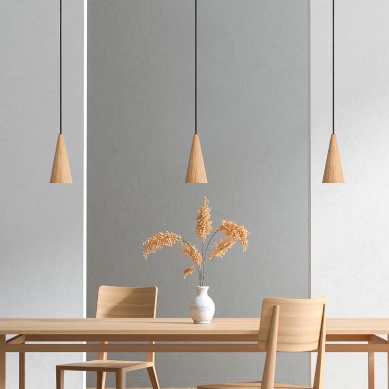 Spotleuchte aus Eichenholz LED Esstisch Lampe